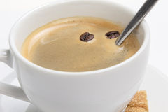 Close up of espresso cup with crema Royalty Free Stock Images
