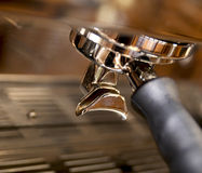Close-up of espresso maker Royalty Free Stock Images