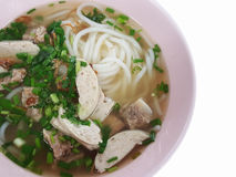 Close-up, estilo tradicional vietnamiano do alimento: Arroz das entrecostos de porco da carne de porco imagens de stock royalty free