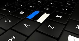 Close up of Estonia button. Royalty Free Stock Photo