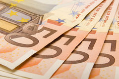 Close up Euro. Close-up funds can be used everywhere Royalty Free Stock Photos