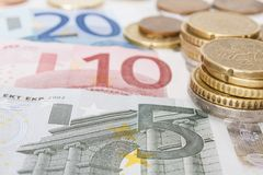 Close-up of Euro Stock Photo