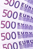 Close-up of a euro banknote Stock Images