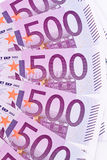 Close up of a euro banknote Stock Photos