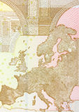 Close up of 50 euro banknote. Stock Photography