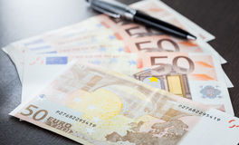 Close up Euro banknote Royalty Free Stock Photography