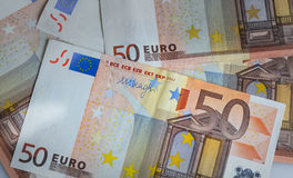 Close up Euro banknote Stock Photography