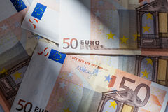 Close up Euro banknote Royalty Free Stock Images