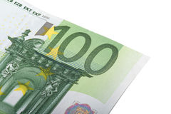 Close Up of Euro Banknote Royalty Free Stock Photos