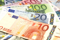 Close-up of Euro banknotes Royalty Free Stock Photos
