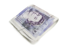 Close-up of Euro banknotes in paper clip Royalty Free Stock Photos