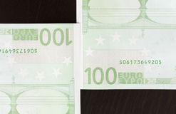 Close-up of 100 Euro banknotes Stock Photography
