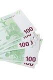 Close Up of Euro Banknotes Stock Photos