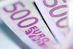 Close up of euro bills Stock Photos