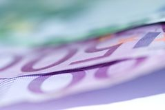 Close up of euro bills Stock Image