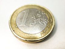 Close up of a 1 euro coin Stock Photos