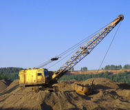 Close up of a excavator Royalty Free Stock Photos