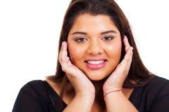 Beleza excesso de peso da mulher fotografia de stock royalty free