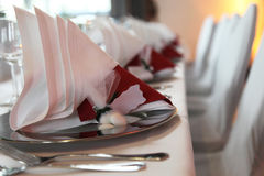Close-up - exclusive table decoration Royalty Free Stock Images