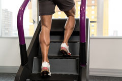 Close-up Exercising On A Stepper Stock Image