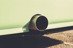 Close up on an exhaust pipe Royalty Free Stock Image
