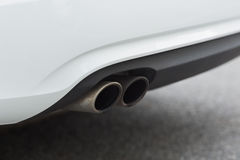 Close up of exhaust pots Stock Image