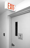 Close-up Exit sign Stock Images