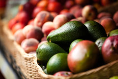 Close up of exotic fruits in the market Royalty Free Stock Images