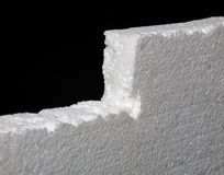 Close up of expanded polystyrene on black background. Closeup of expanded polystyrene on black background Stock Photography