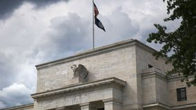 Close up of the federal reserve building. Close up of the exterior of the federal reserve building in Washington, DC stock footage