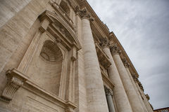 Close up exterior of St. Peter`s Basilica rome italy important t Stock Photos