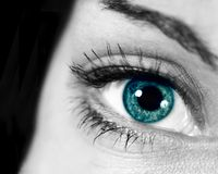 Close up of the eye. Abstract view of the eye to portray thought and ideas Royalty Free Stock Photo