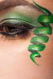 Close up of an eye with artistic make up Royalty Free Stock Photography