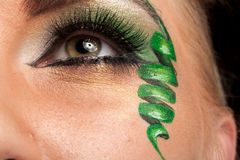 Close up of an eye with artistic make up Royalty Free Stock Photos