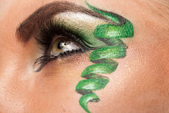 Close up of an eye with artistic make up Royalty Free Stock Photo
