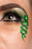 Close up of an eye with artistic make up Stock Photography