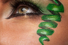 Close up of an eye with artistic make up Stock Photo