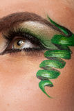 Close up of an eye with artistic make up Stock Image
