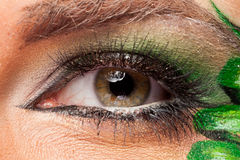 Close up of an eye with artistic make up Stock Images