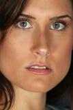 Close-up eye contact. Girl has a good close-up look at you Royalty Free Stock Photo