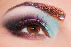 Eye with creative make up Royalty Free Stock Photography
