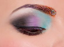 Eye with creative make up Royalty Free Stock Photo
