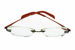 Close up of eye glasses isolated on white background Royalty Free Stock Image
