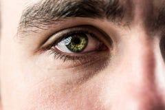 Close up of eye looking up Stock Photos