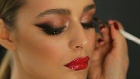 Professional eye makeup.