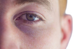 Close up of an eye. Of a man Stock Images