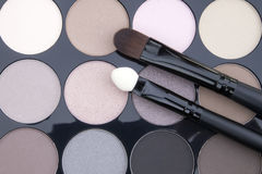 Close up eye shadow make up palette set Royalty Free Stock Photography