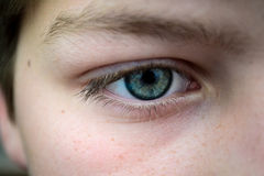 Close up of eye on youth Royalty Free Stock Photography