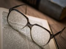 Close-up of Eyeglasses Royalty Free Stock Photography