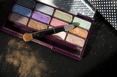 Close up eyeshadow Stock Images